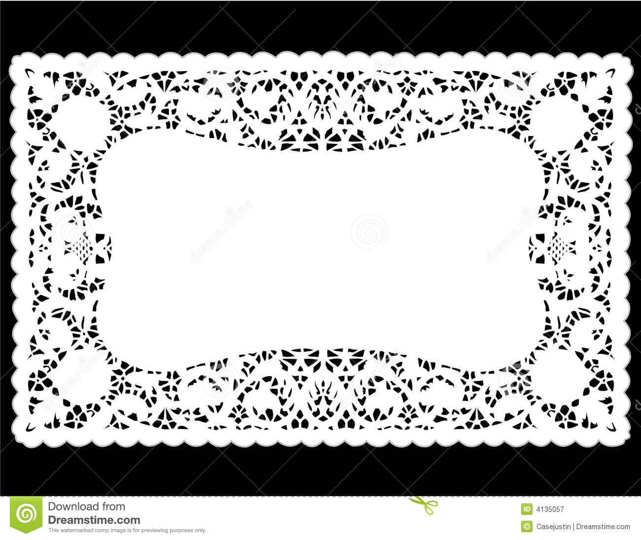 White Lace Doily Place Mat Stock Vector Illustration Of