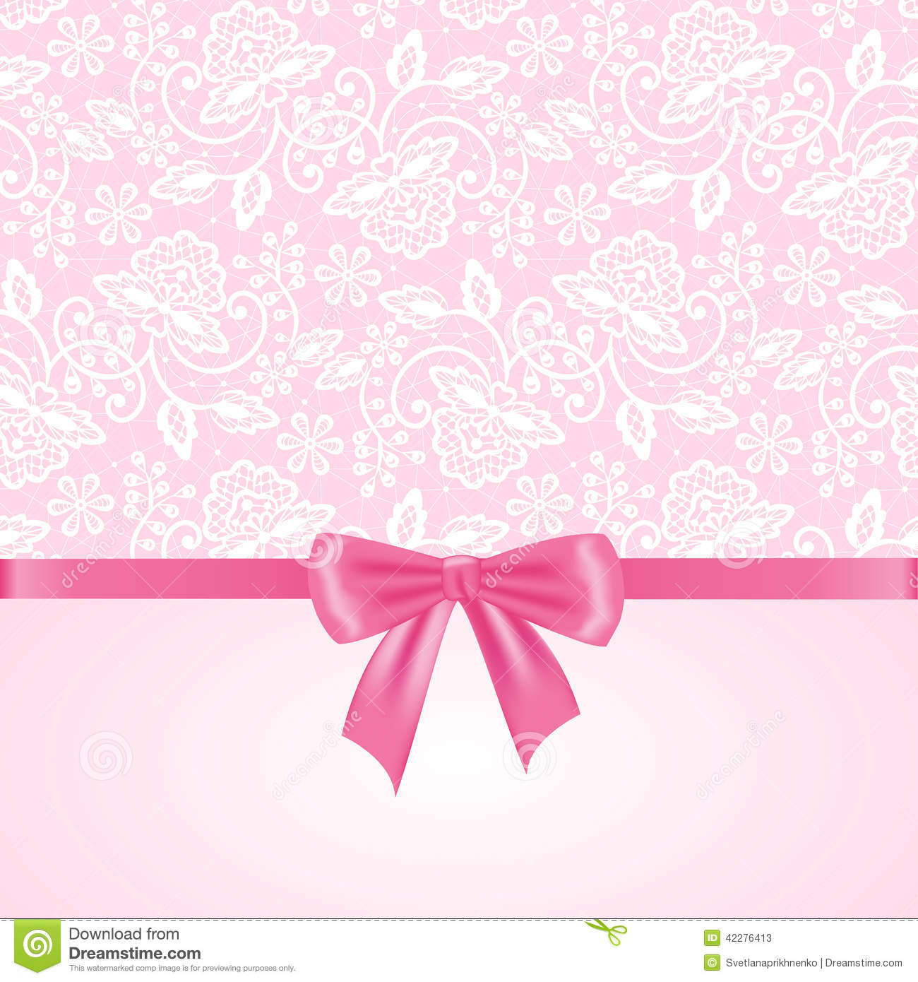 Wall Stickers Polka Dots White Lace On Pink Background Stock Vector Image 42276413