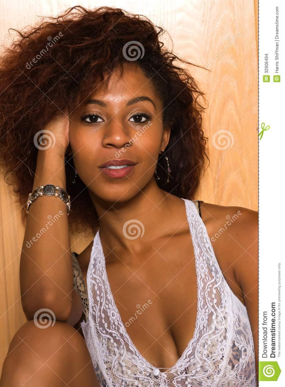 White Lace Stock Photo Image Of Slender Woman American