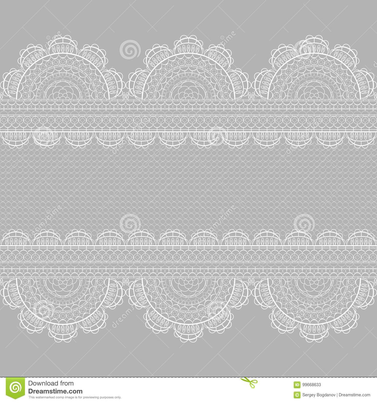 White lace pattern stock vector. Illustration of seamless - 99668633