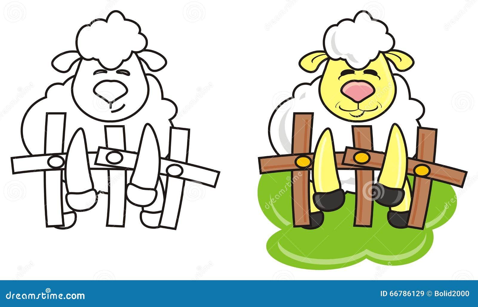 White lamb coloring