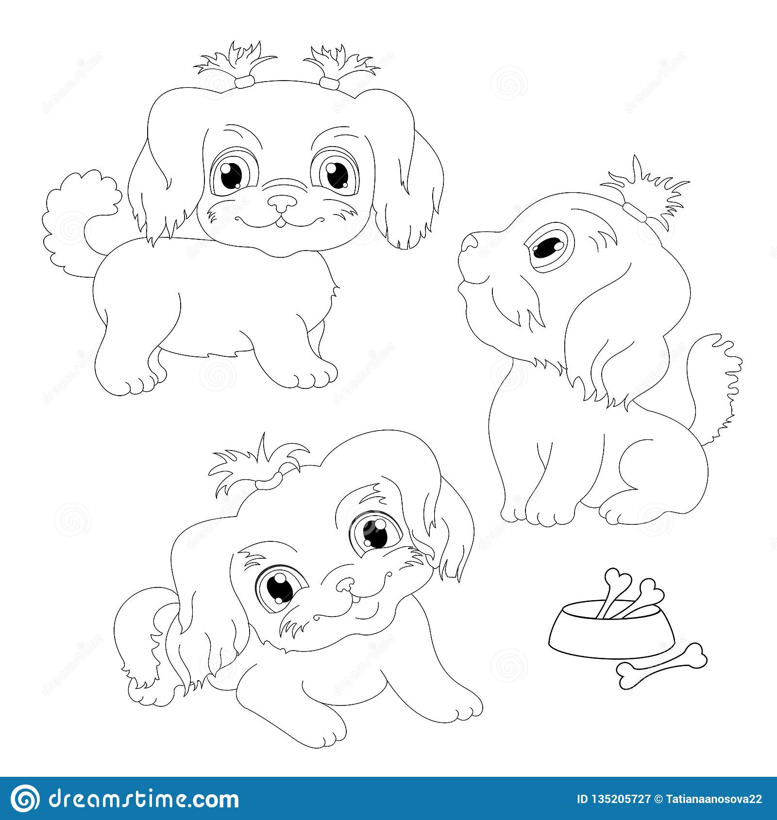 White lap dog. Little dog vector illustration