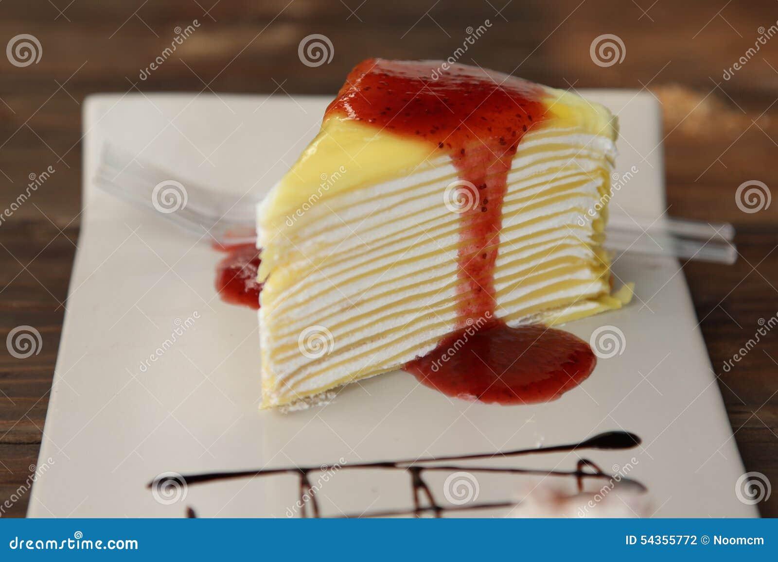 Cartoon Jelly Cake Recipe: Layer Cake Royalty-Free Stock Photo