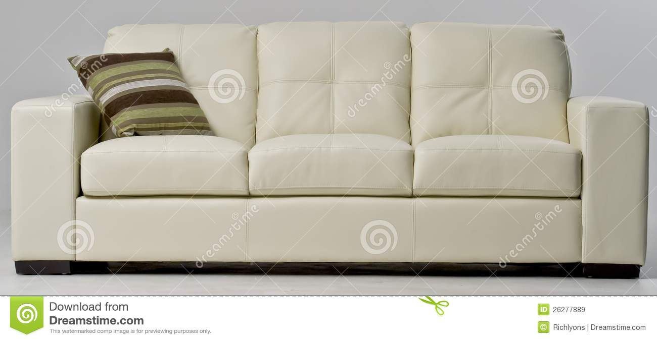Amazing White Leather Couch Stock Image Image Of Design Light Machost Co Dining Chair Design Ideas Machostcouk