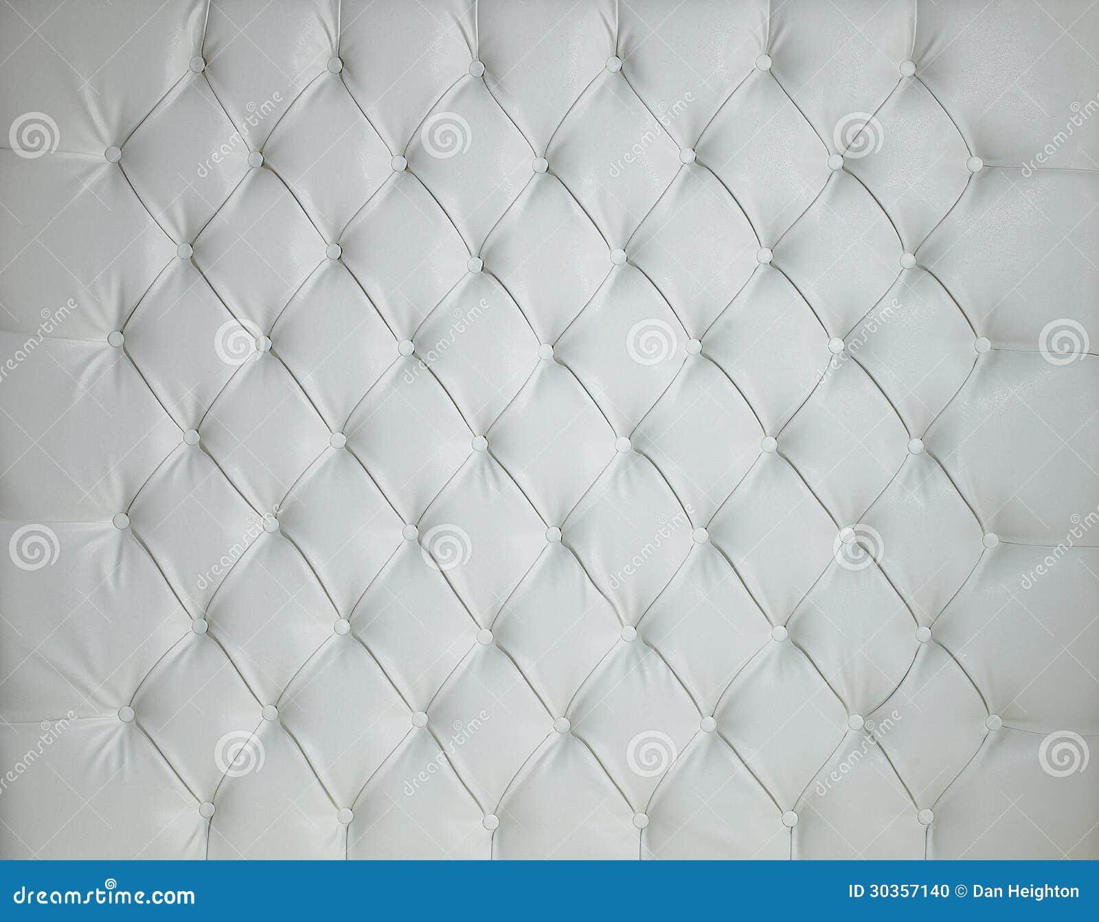White Leather Padded Studded Luxury Background Stock Photo