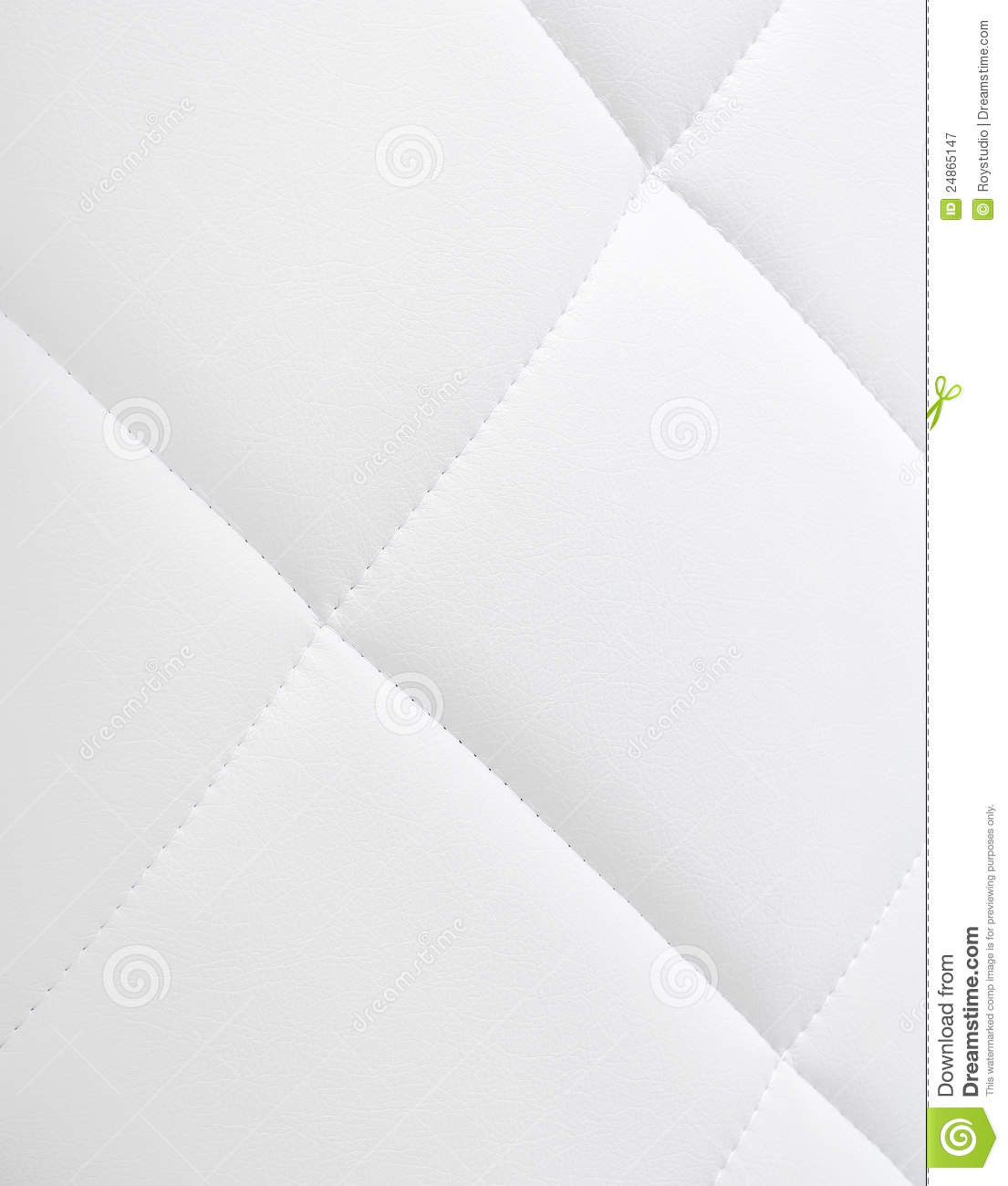 White Leather Texture Sofa Background Stock Image