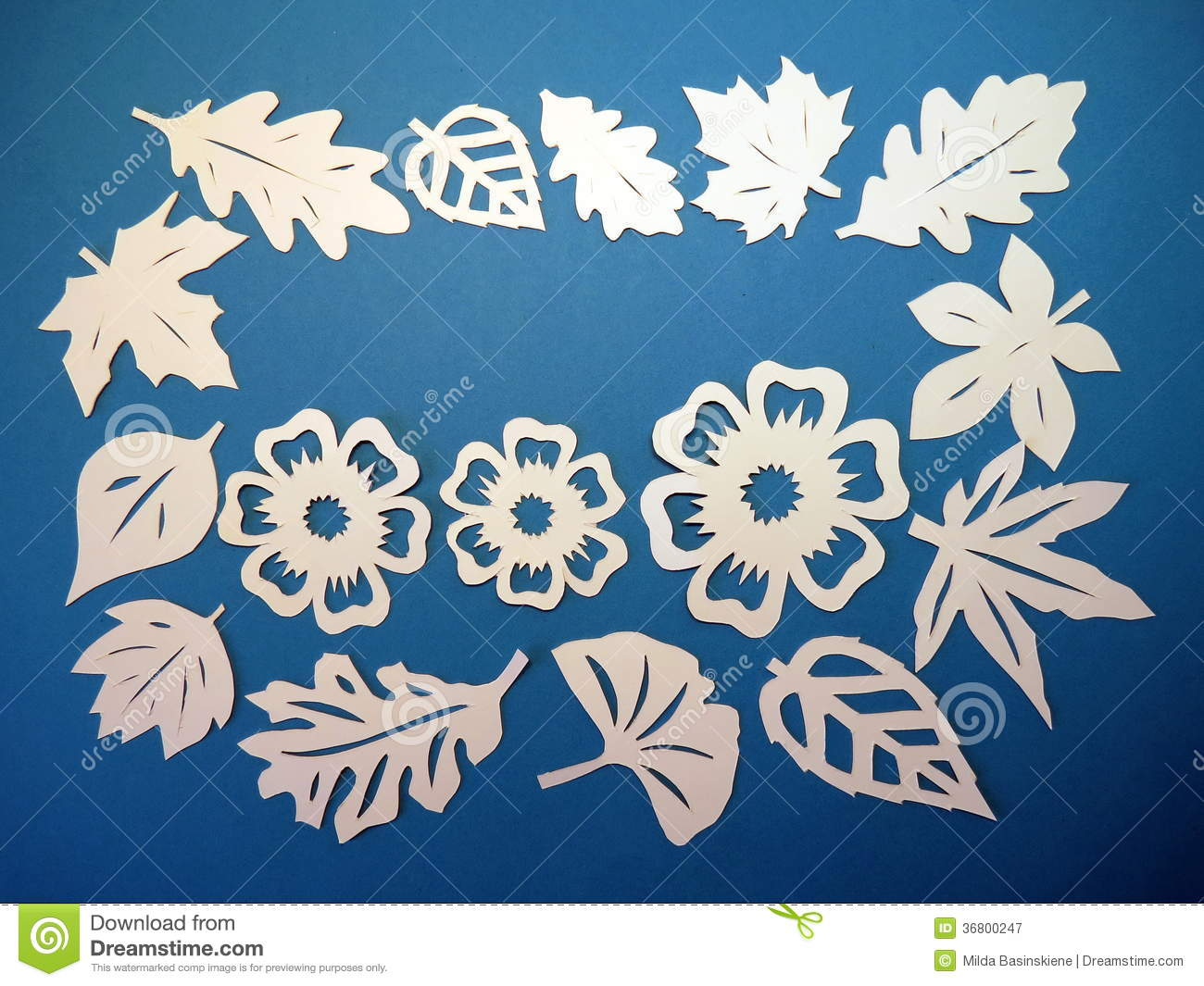 White leaves and flowers pattern paper cutting stock image image white leaves and flowers pattern paper cutting mightylinksfo
