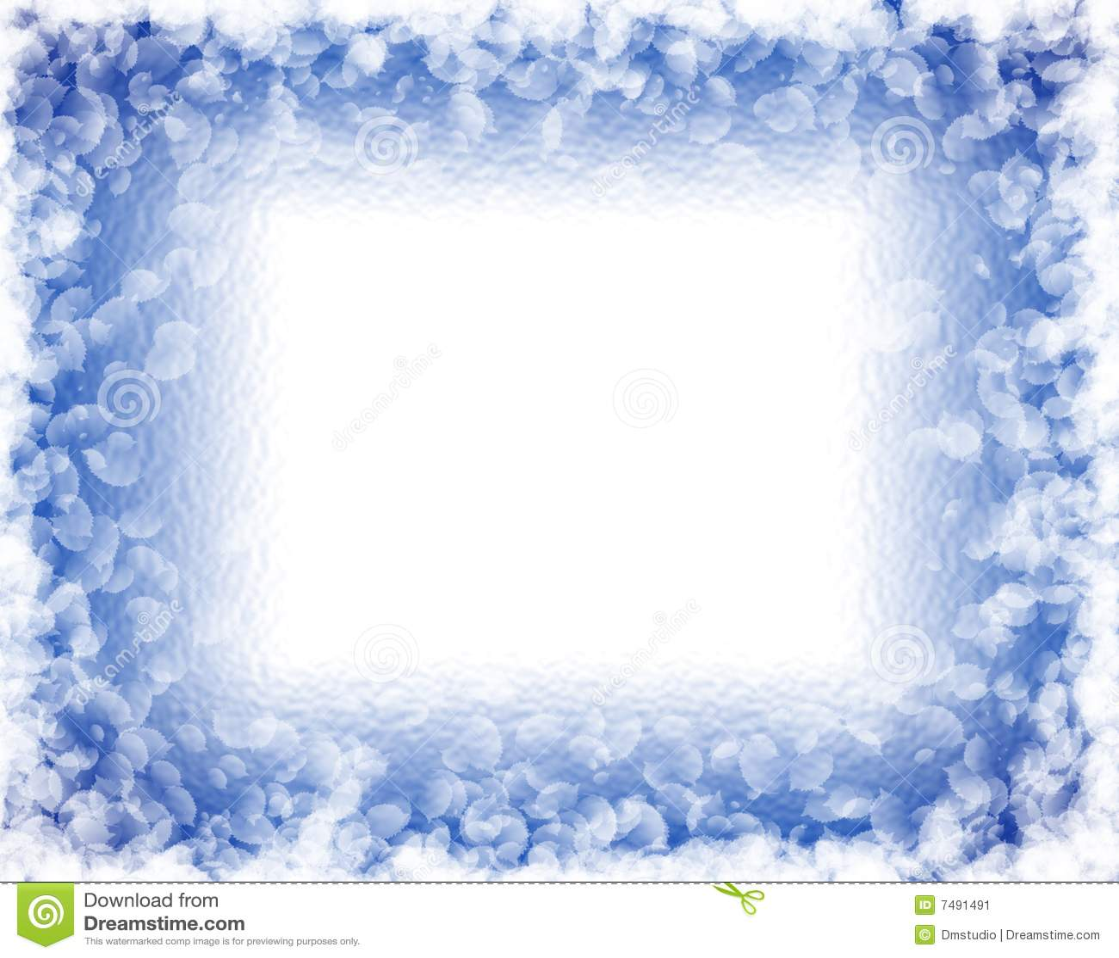 White Leaves On Ice Stock Image - Image: 7491491
