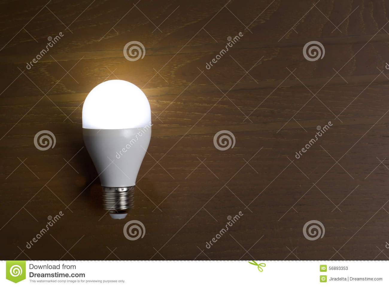 White led lamp without wires on wooden table stock image image of download comp keyboard keysfo Image collections