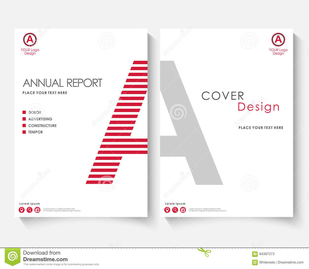 White letter annual report cover design template vector brochure white letter annual report cover design template vector brochure concept presentation website portfolio red layout madrichimfo Choice Image
