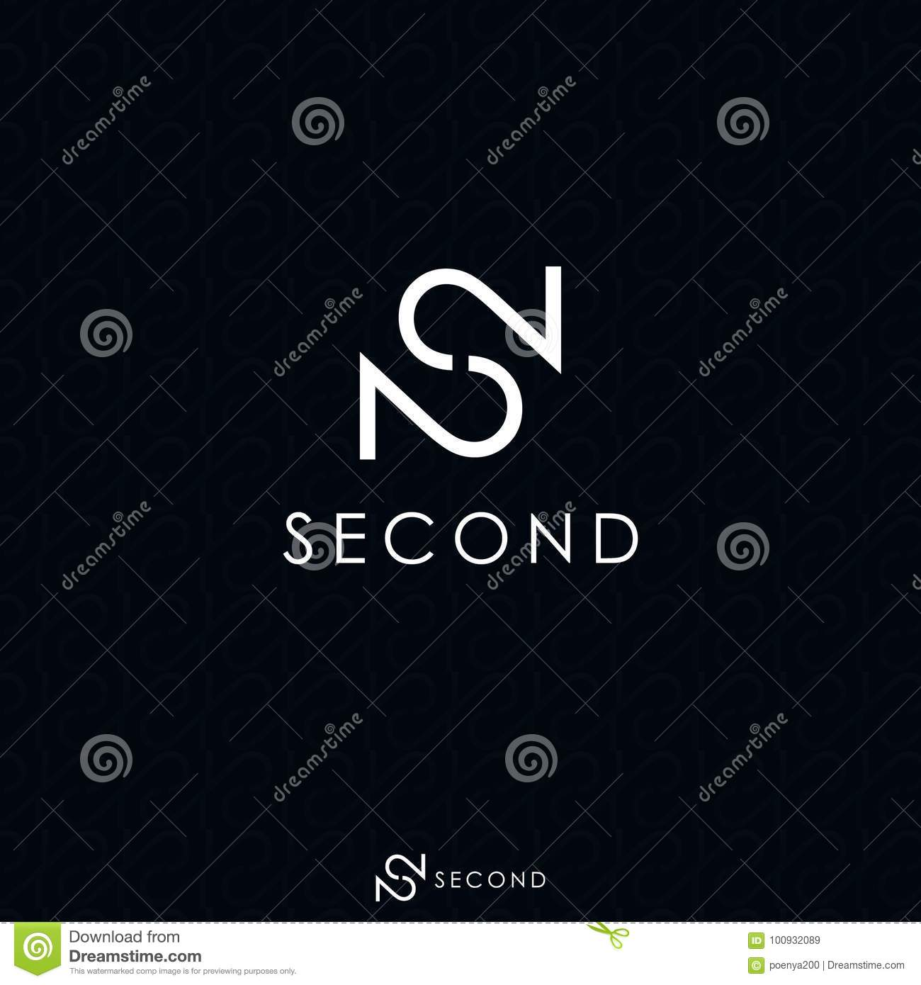 4f383c58e ... 2 logo concept with black background shadow pattern. Initial letter and  number logo. Template logo for brand, fashion, premium product or services.