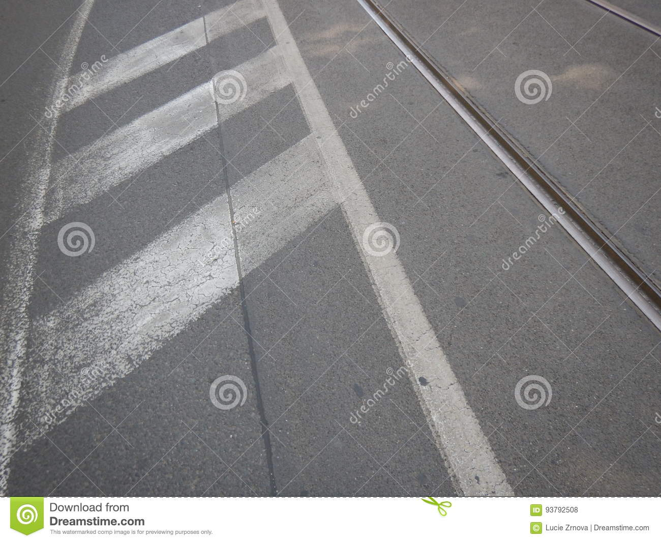 White line on an asphalted road