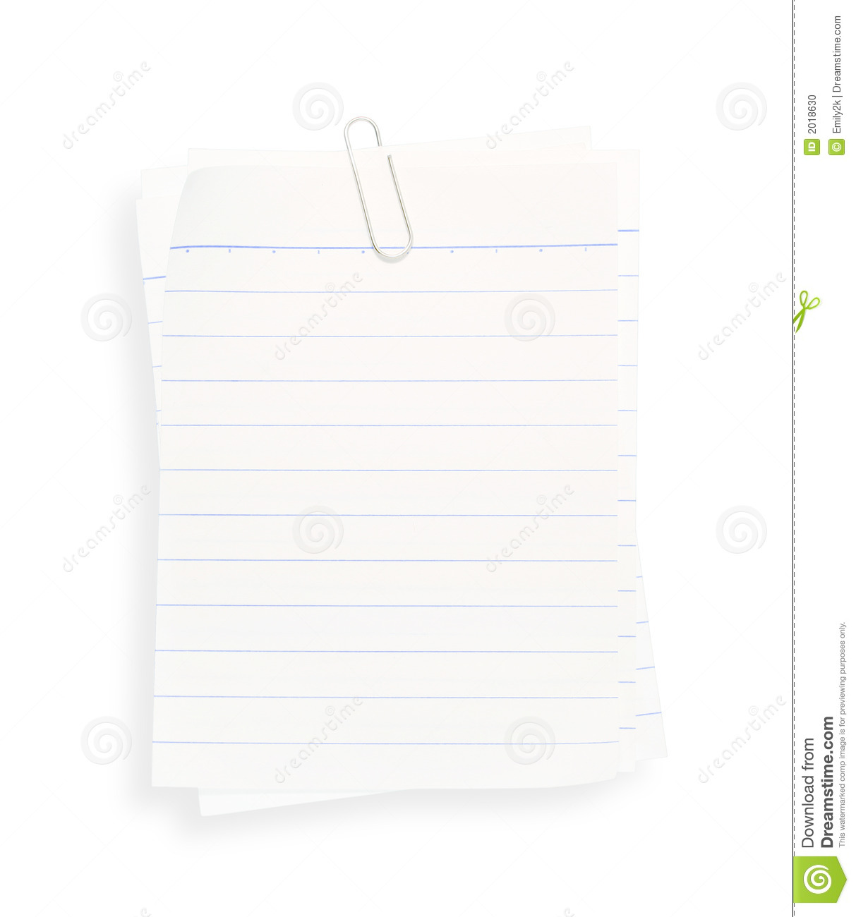 Stack Of Lined Paper