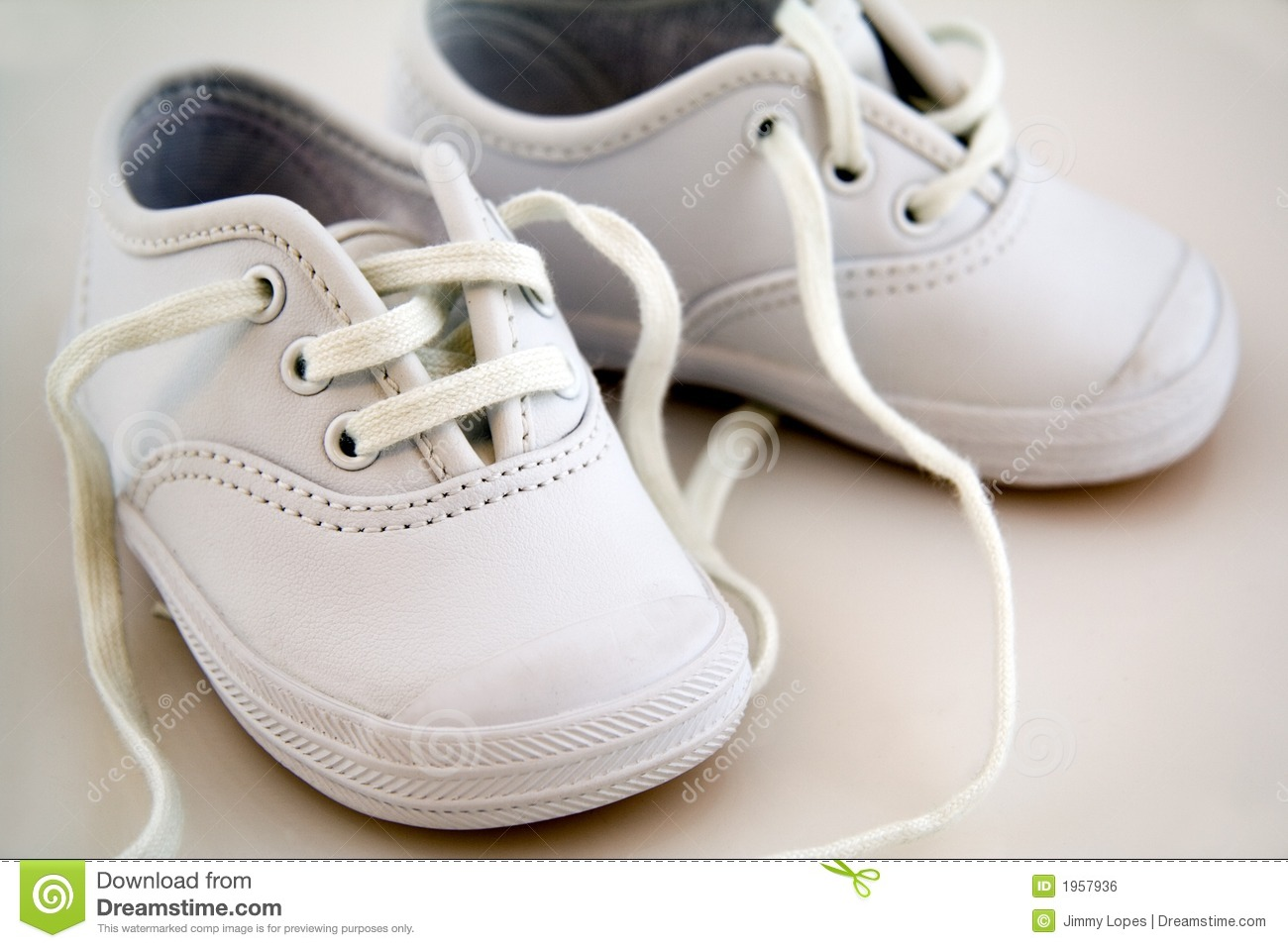 White Little Baby Shoes Royalty Free Stock Image - Image: 1957936