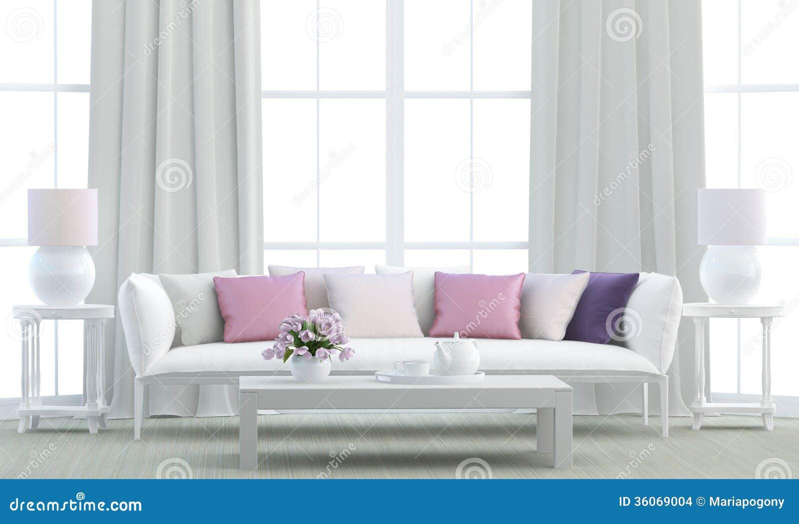 Living Room Coach Black Sofa Silver Furniture Royalty Free