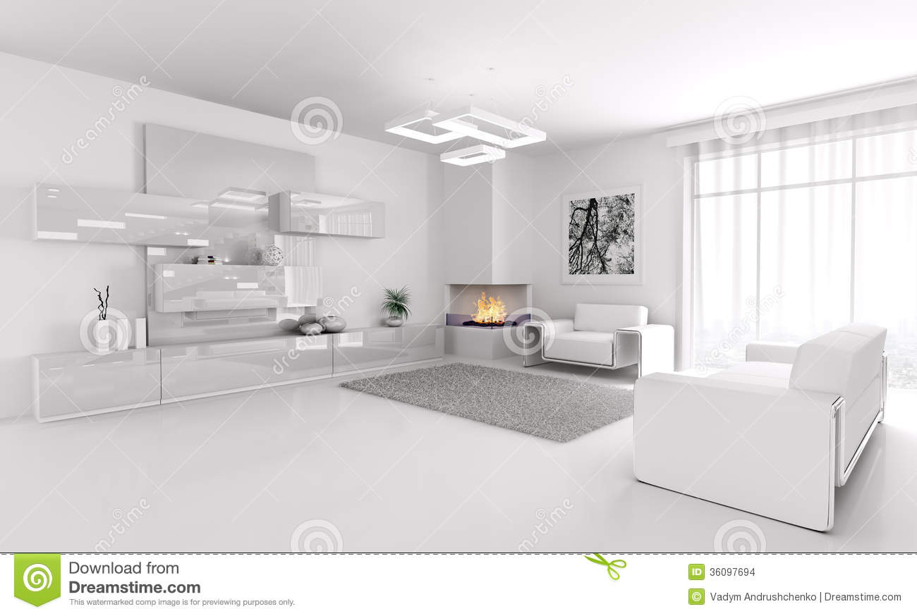 Royalty Free Stock Photo. Download White Living Room ...