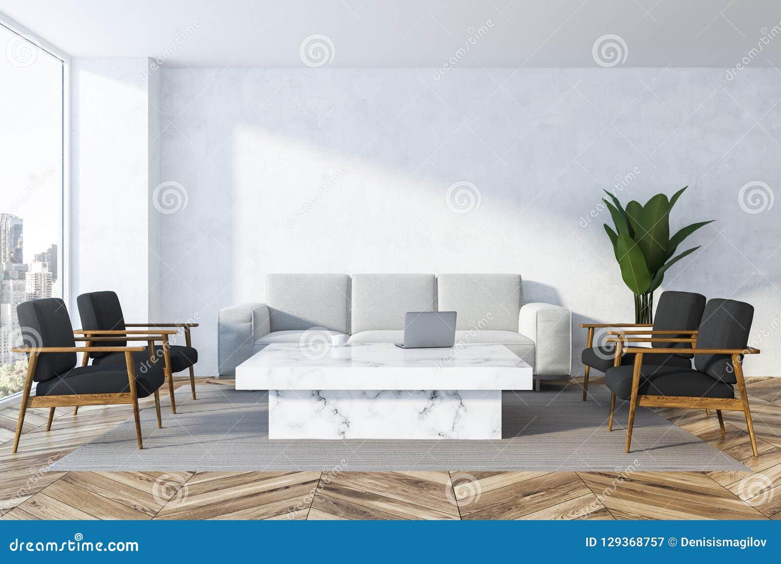 White Living Room White Sofa Stock Illustration Illustration Of Estate Living 129368757