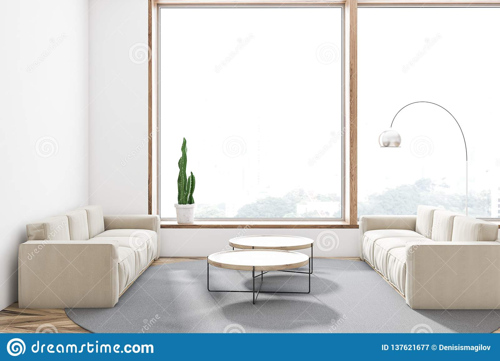 Surprising White Living Room With Two Sofas Stock Illustration Dailytribune Chair Design For Home Dailytribuneorg