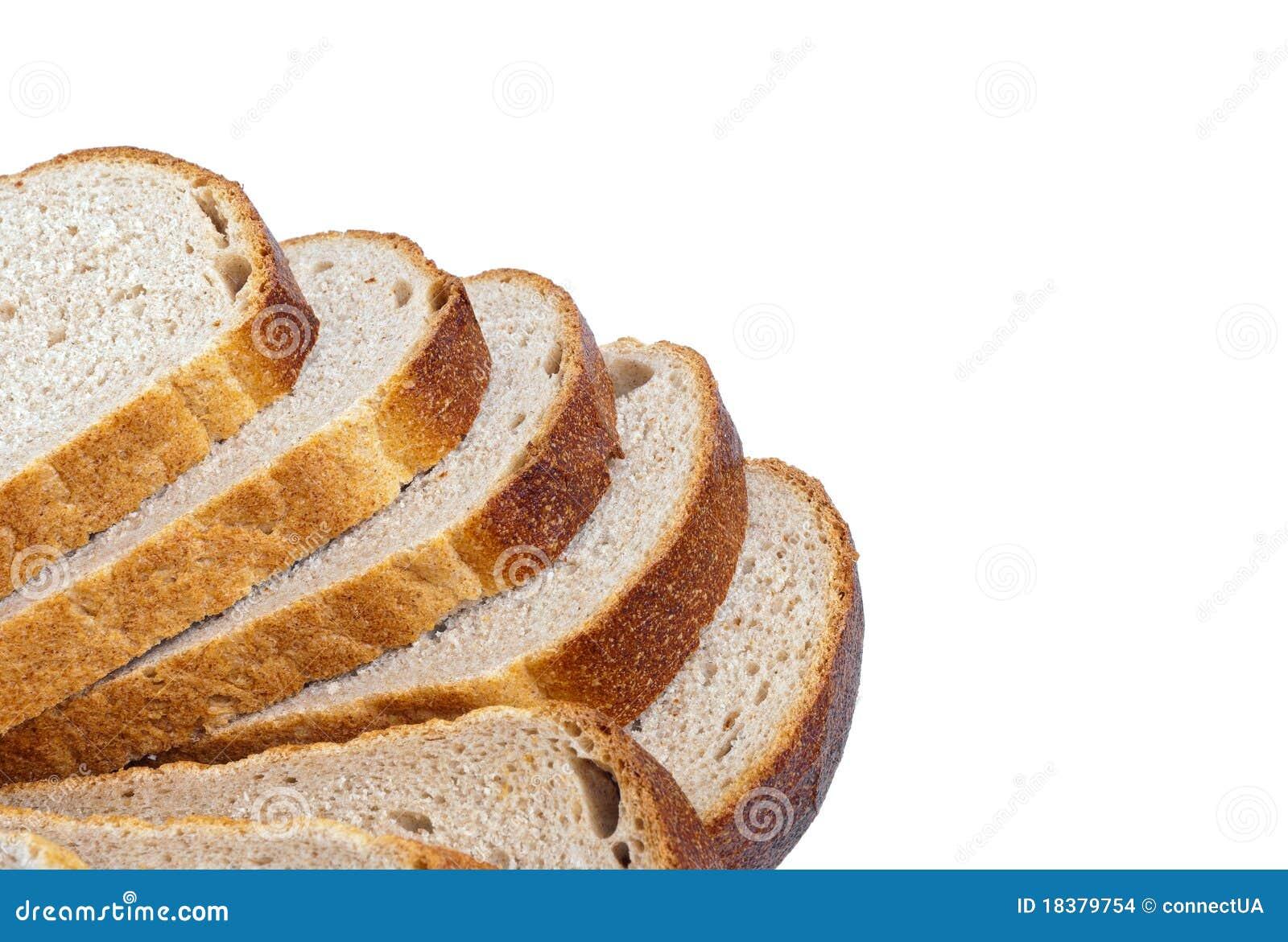 White loaf slices