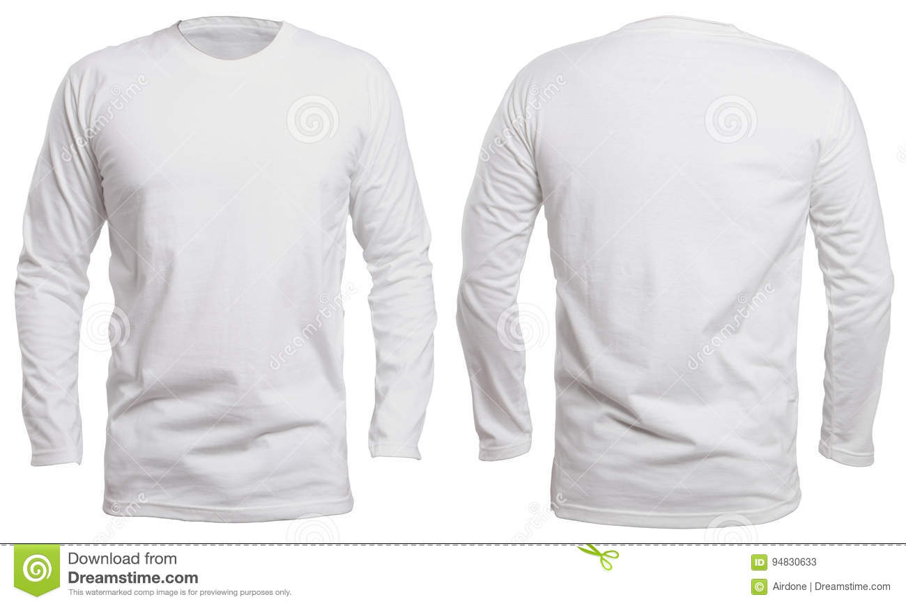 White Long Sleeve Shirt Mock Up Stock Image - Image of male 9f75961435a