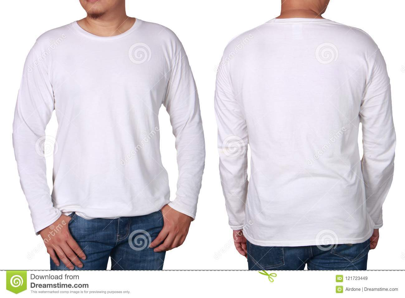 White Long Sleeved Shirt Design Template Stock Image Image Of