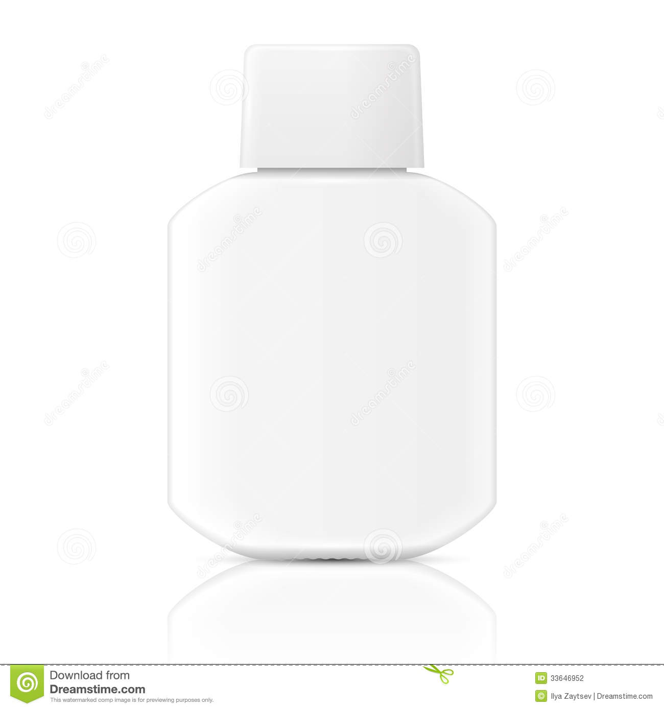 White Lotion Bottle Template. Stock Vector - Image: 33646952