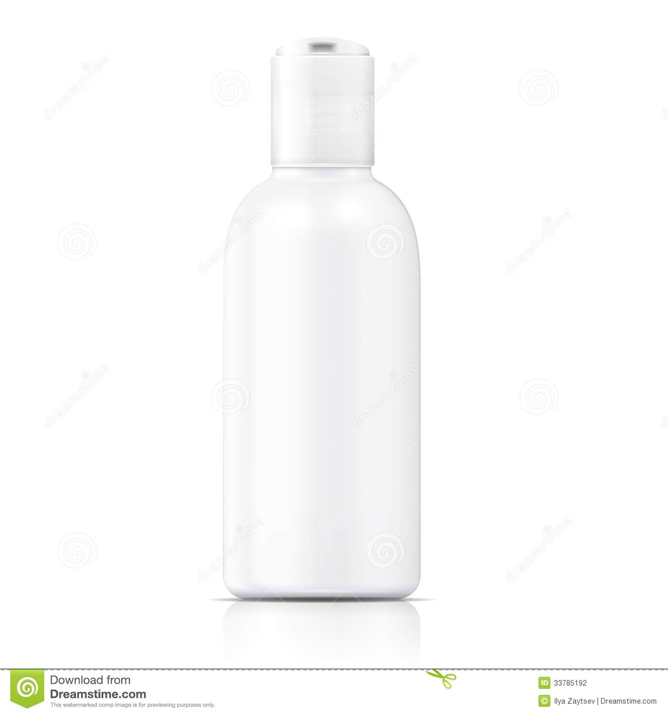White Lotion Bottle Template Stock Photography Image