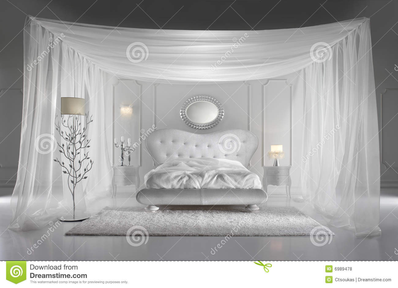 Nice Royalty Free Stock Photo. Download White Luxurious Bedroom ...