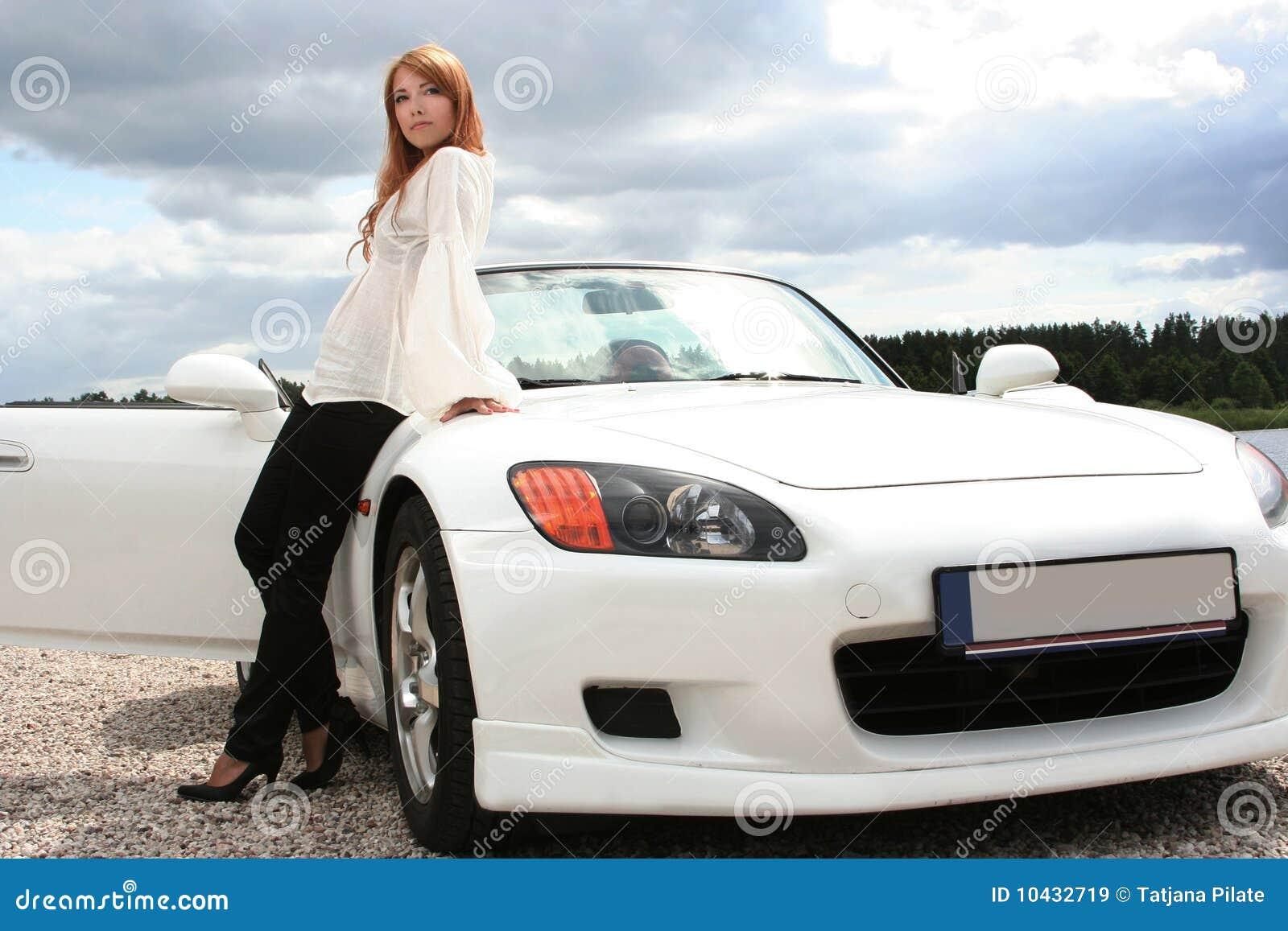 White Luxury Car Stock Image Image Of Travel Transport 10432719