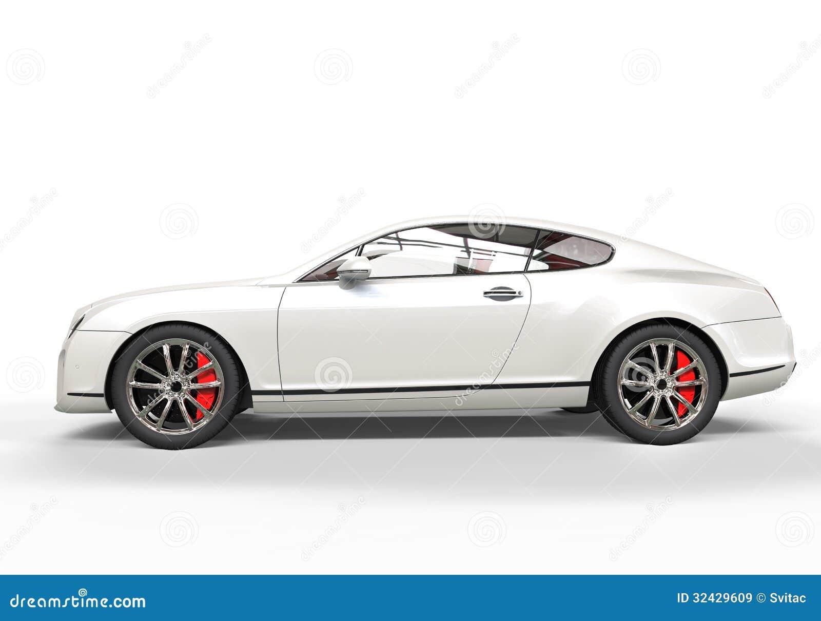 White Luxury Car Royalty Free Stock Images - Image: 32429609