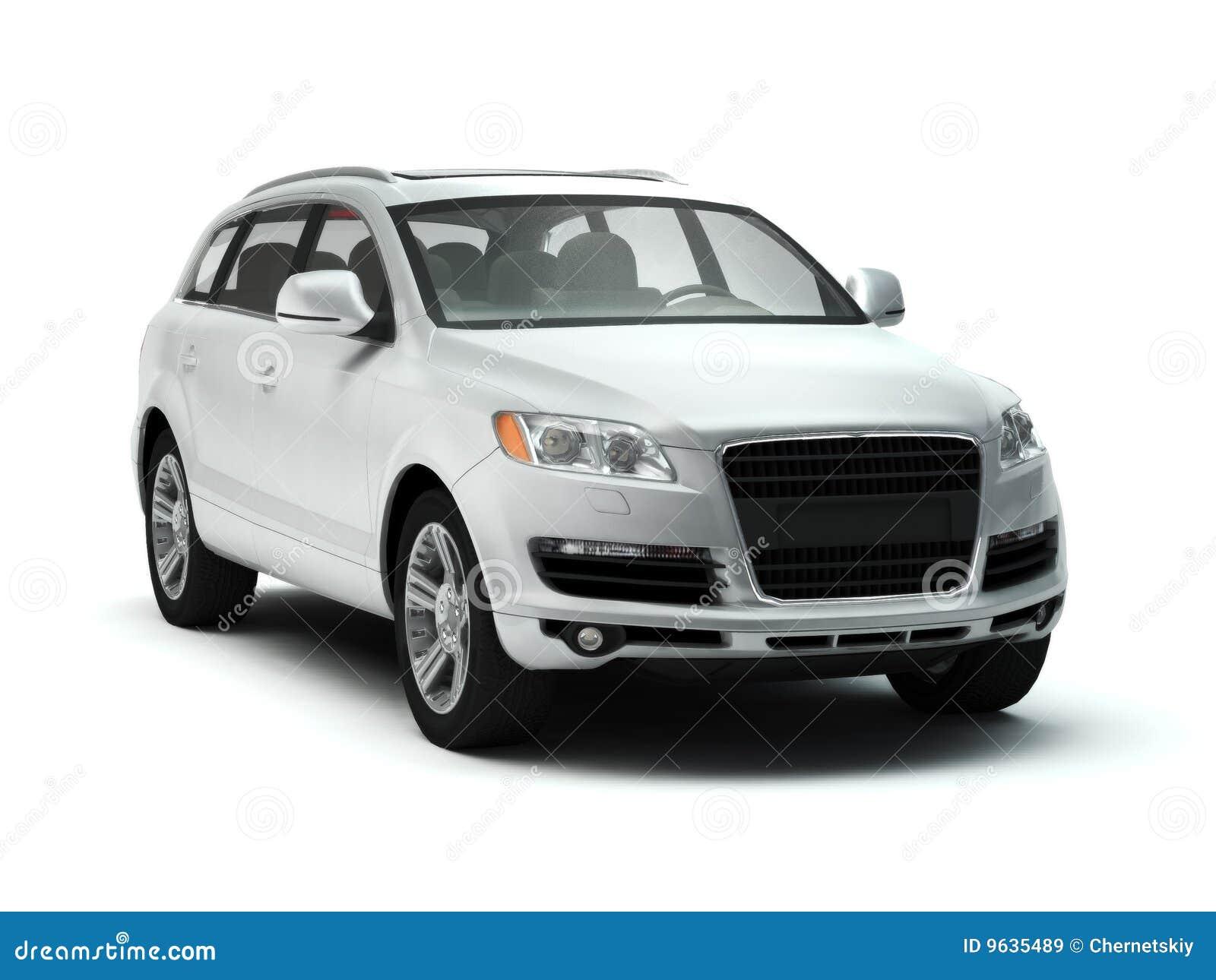 White luxury SUV stock illustration. Image of isolated ...