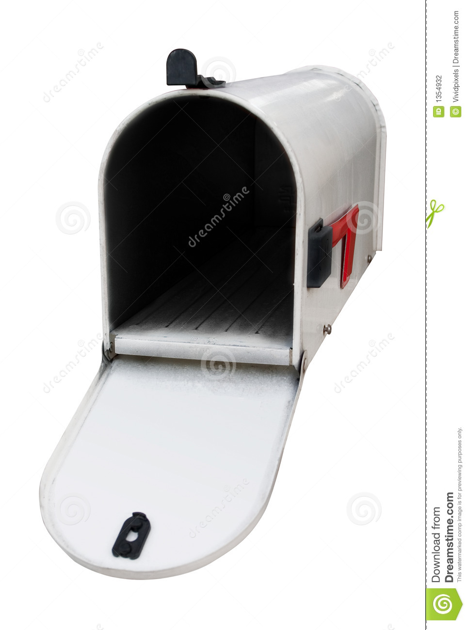 open mailbox. Royalty-Free Stock Photo Open Mailbox N