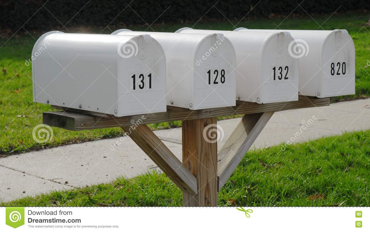 Easy woodworking projects, Mailbox Post Plans For Multiple ...