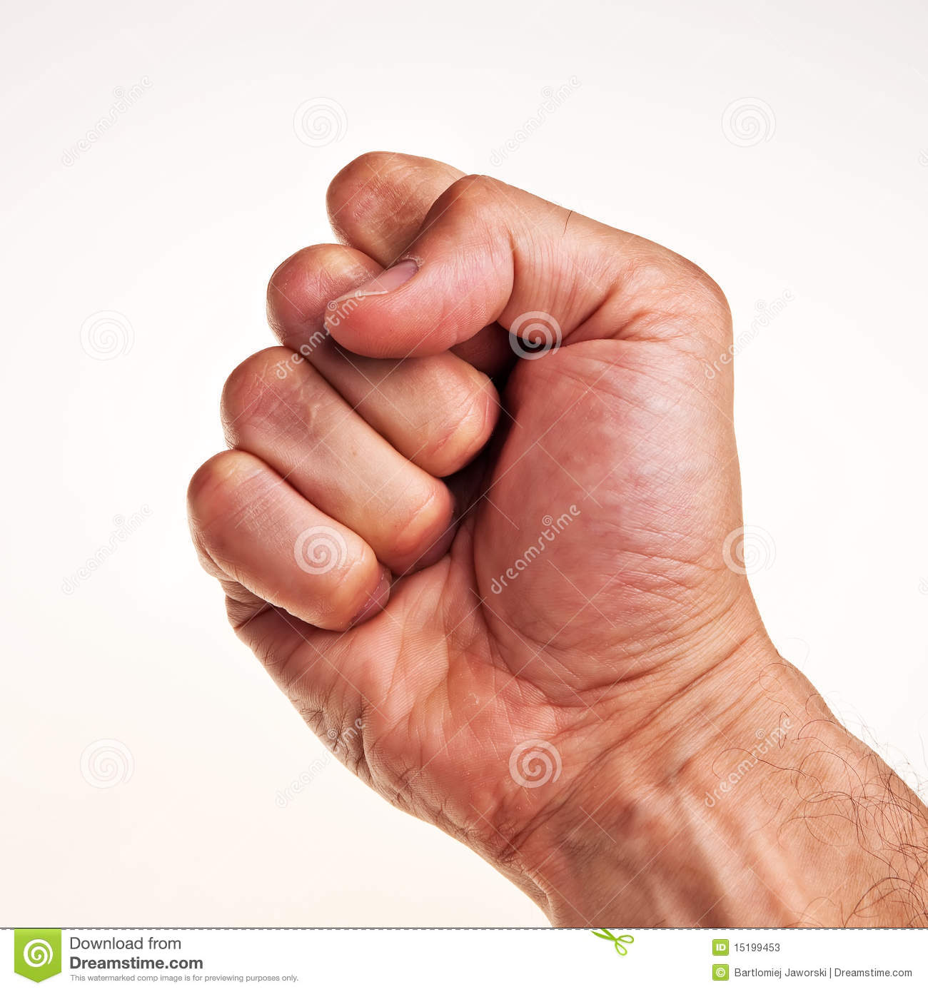 White Male Right Hand, Fist. Stock Photos - Image: 15199453