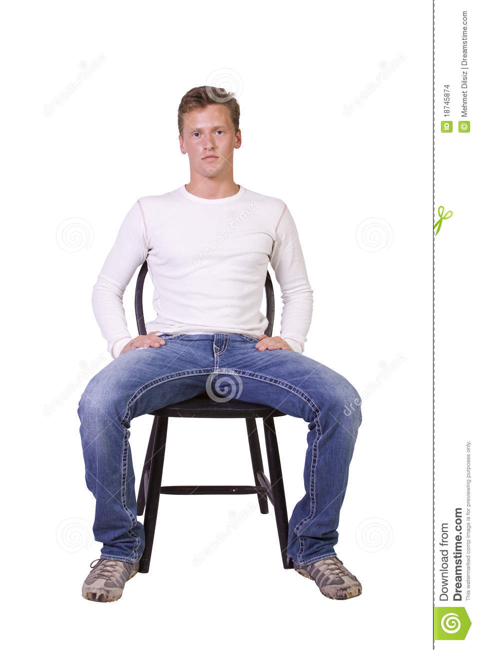 White man sitting on chair relaxed stock images image for Sitting chairs