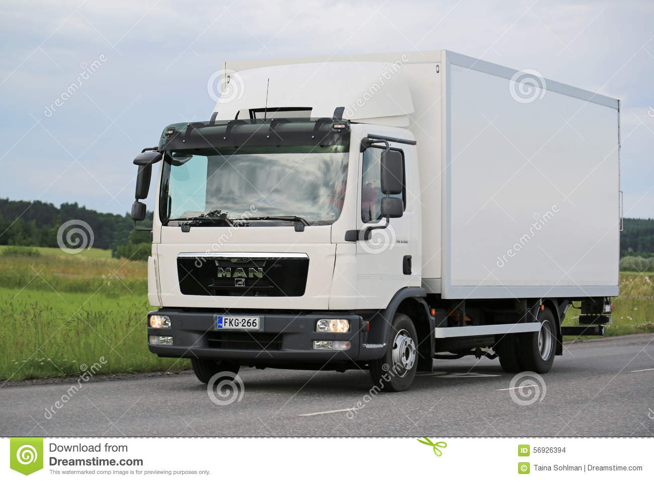 White MAN TGL Delivery Truck On The Road Editorial Stock ...