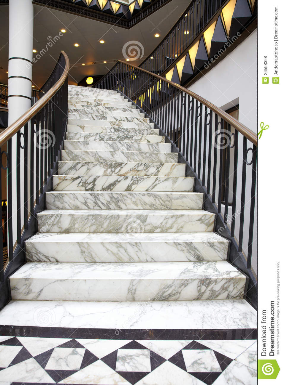 white marble stair in luxury interior stock photo image. Black Bedroom Furniture Sets. Home Design Ideas