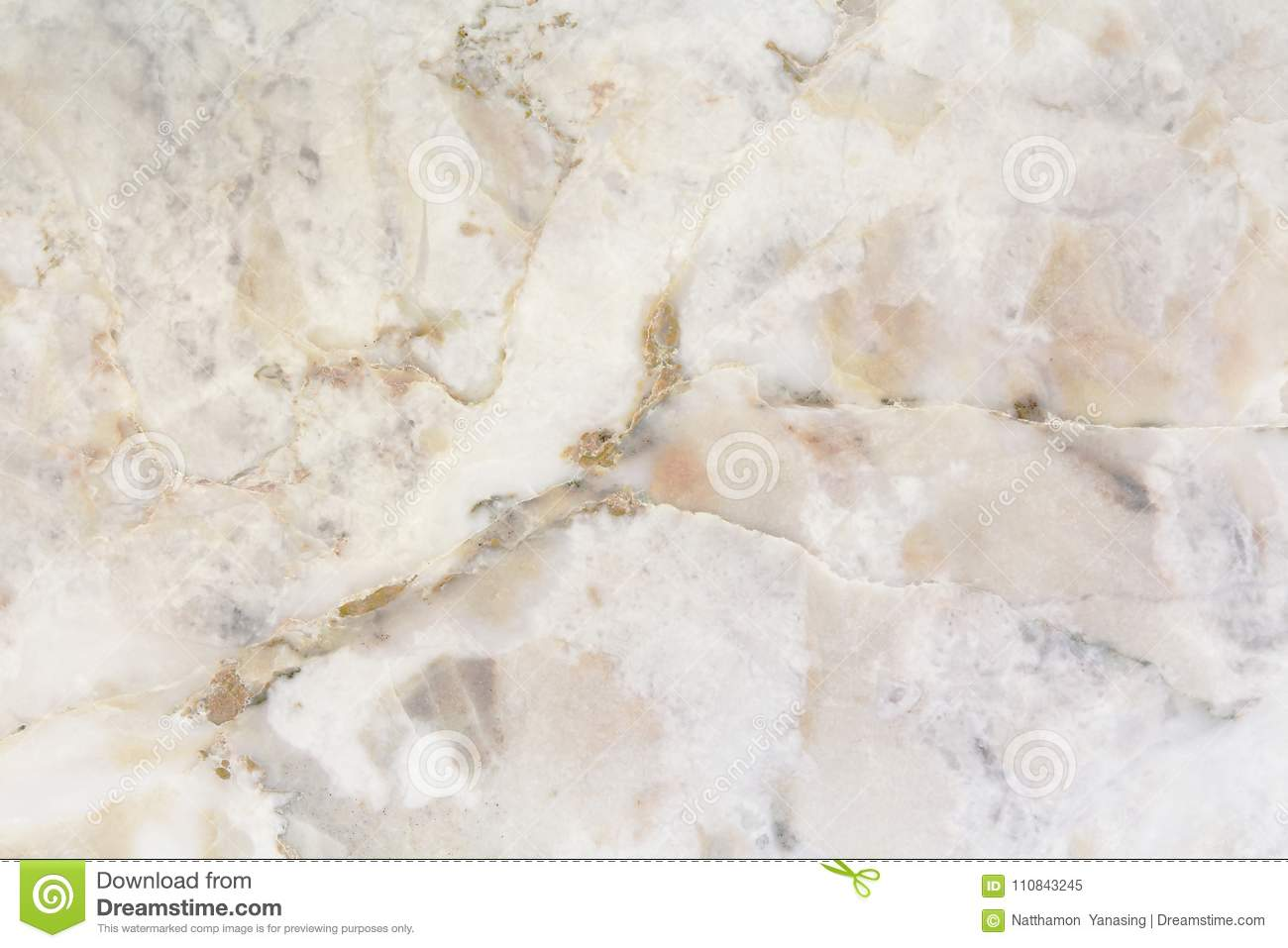 White Marble Texture In Natural Pattern With High Resolution Stock