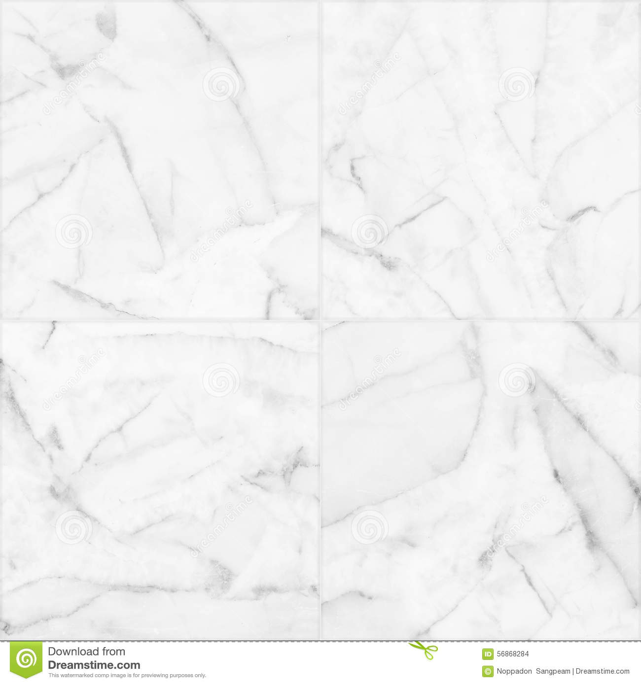 White marble tiles seamless flooring texture for background and design