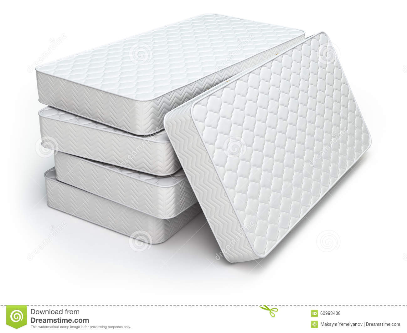 White Mattress On White Stock Illustration Image 60983408