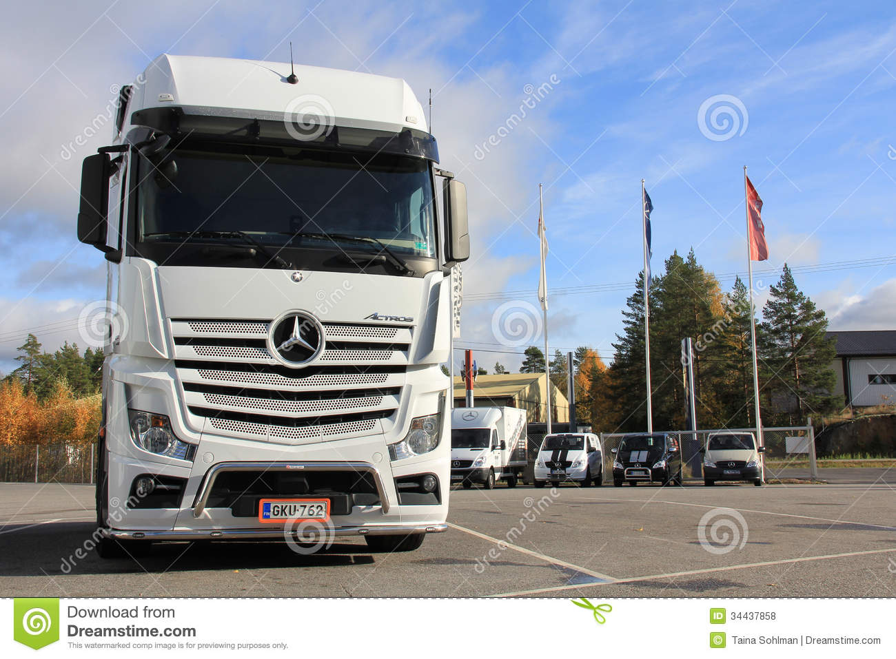 White mercedes benz actros truck editorial stock photo for White mercedes benz truck
