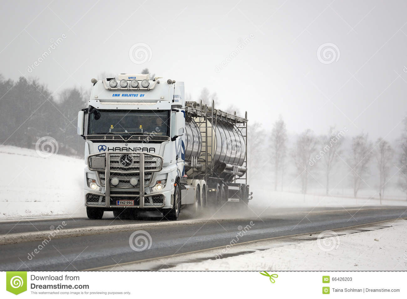 White mercedes benz actros truck and road salt editorial for White mercedes benz truck