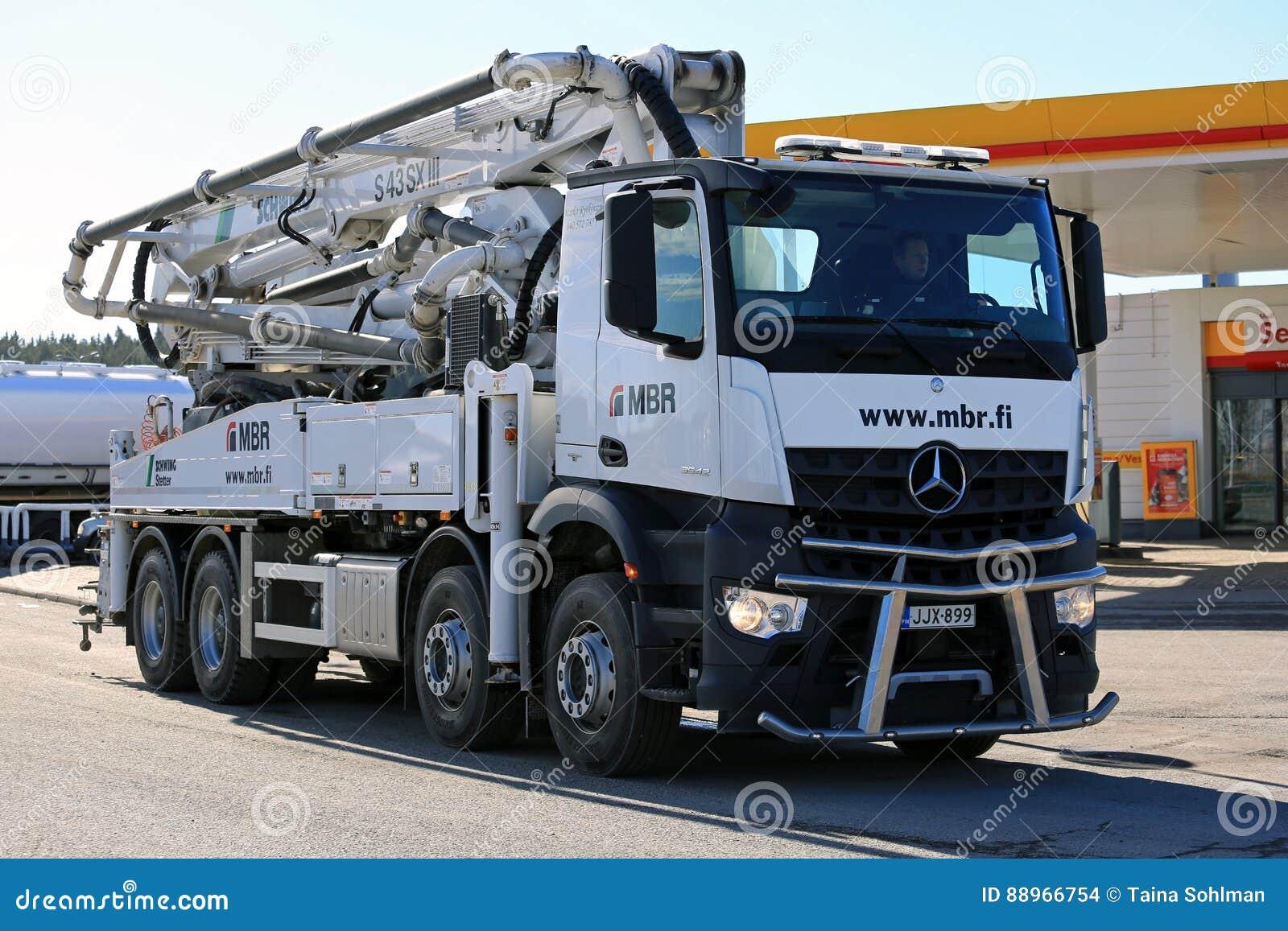 White Mercedes-Benz Arocs Schwing Stetter Mobile Concrete Pump T