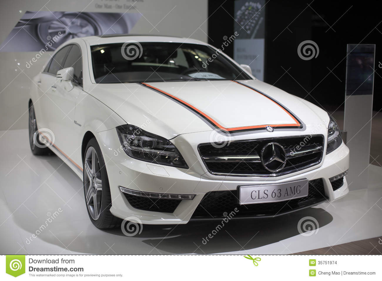 White mercedes benz cls 63 amg car editorial stock image for White mercedes benz truck