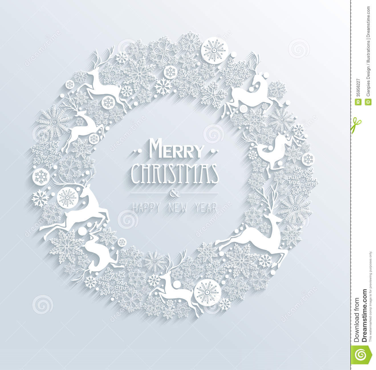 Decorating Tips For A Modern Merry Christmas: White Merry Christmas And Happy New Year 3d White Royalty