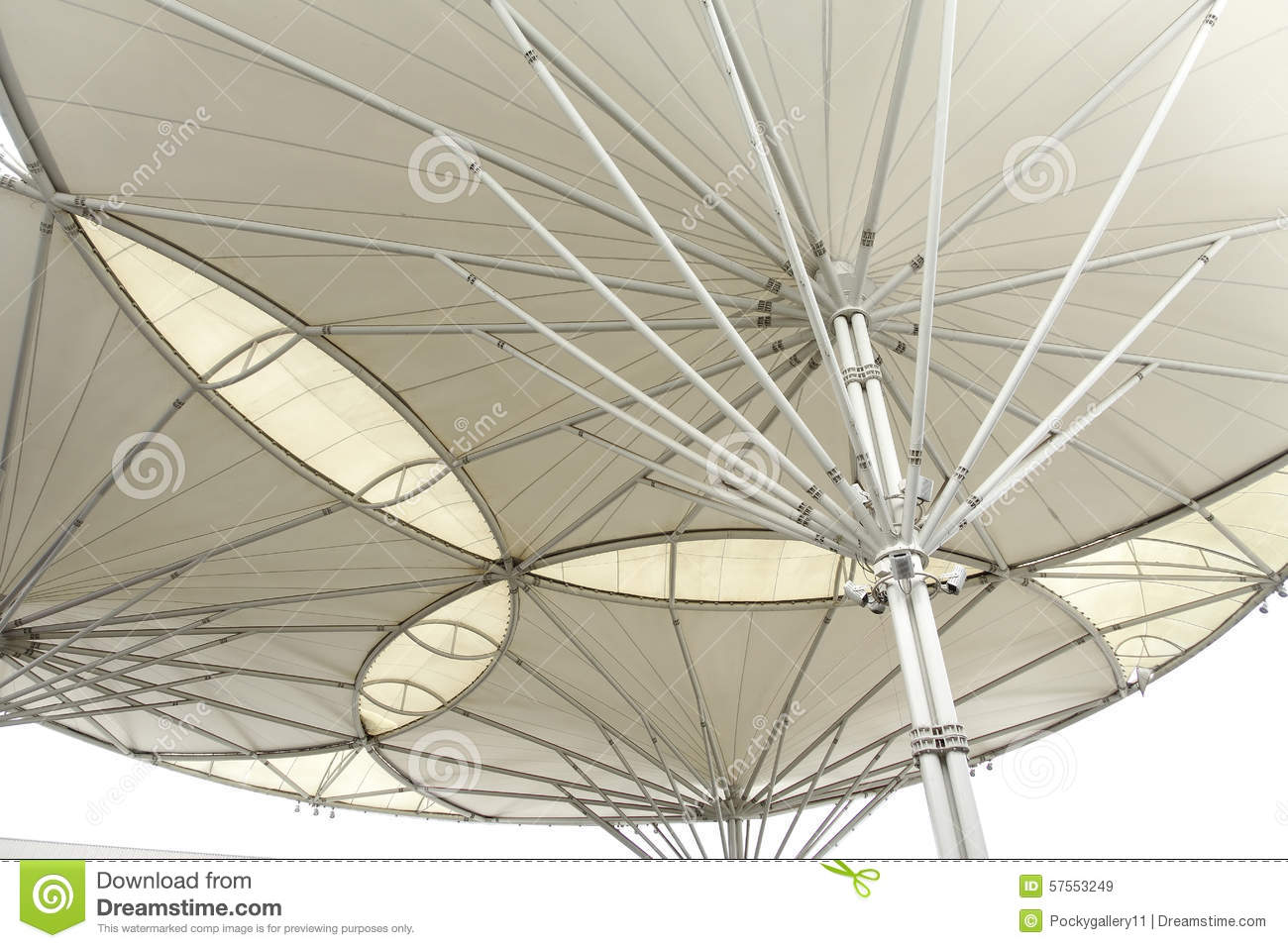 Royalty Free Stock Photo. Download White Metal And Canvas Roof ...