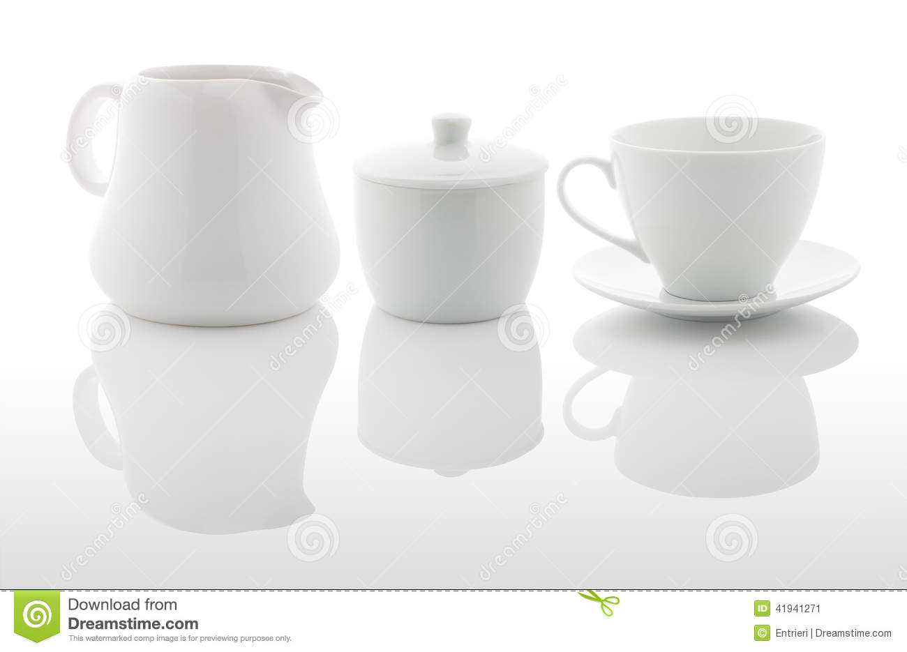 Download White Milk Jug, Sugar Bowl And Coffee Cup Stock Image - Image of cover, background: 41941271