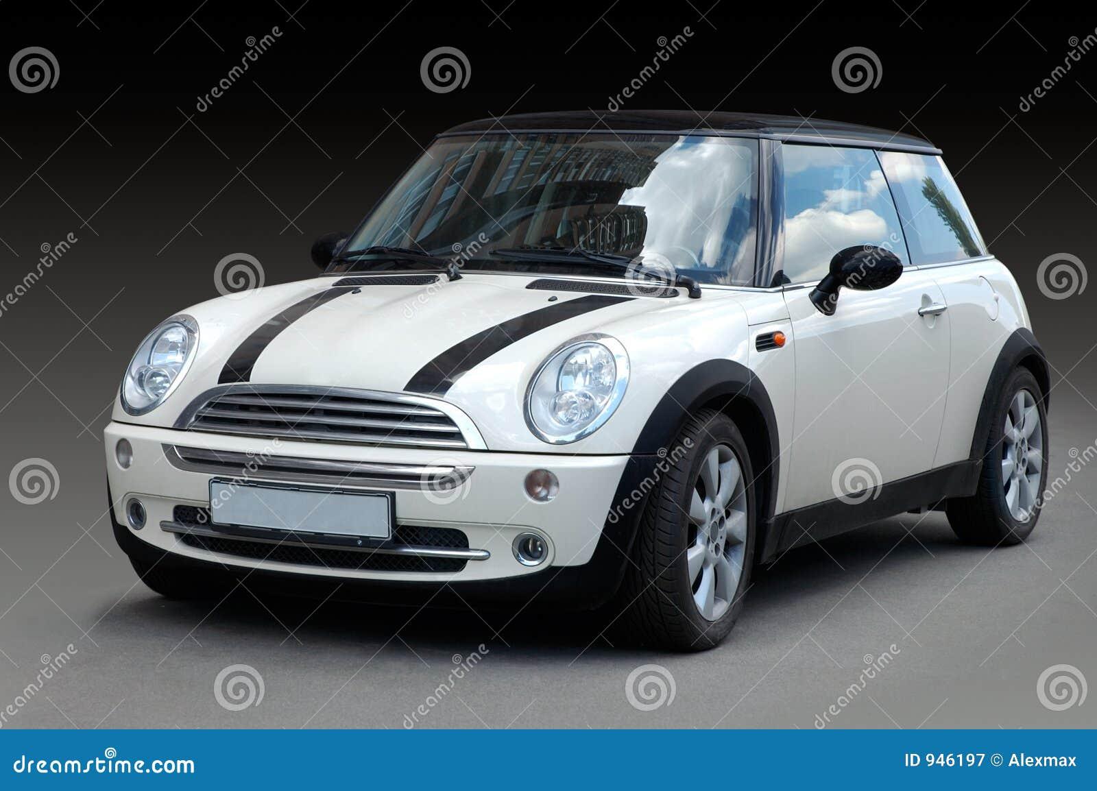 white mini car royalty free stock photography