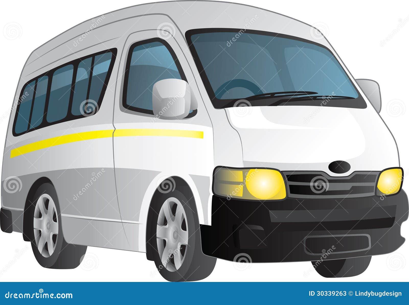 Stock Photos White Minibus Taxi Vector Cartoon Plain Image30339263 on Tree Clip Art