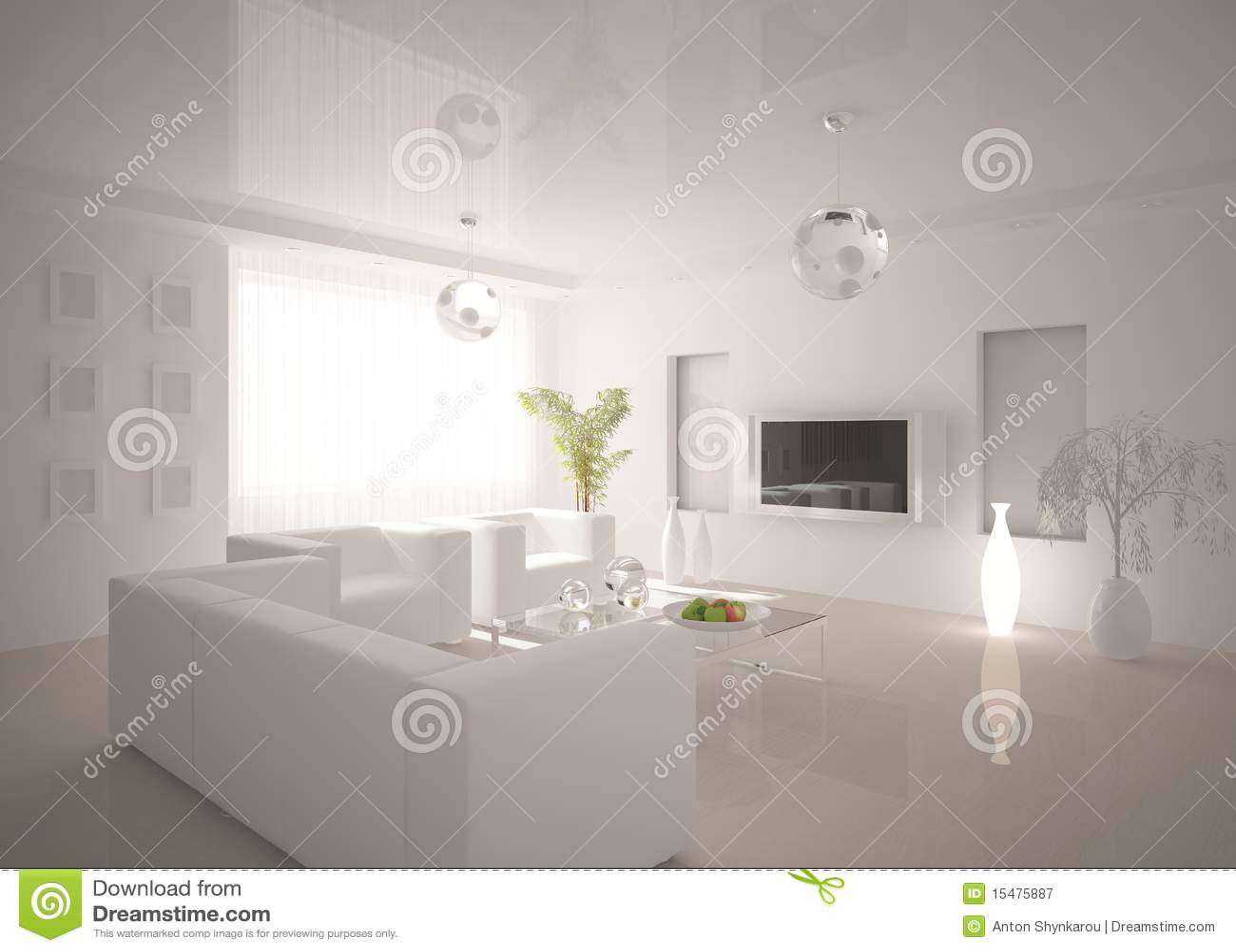 White modern interior